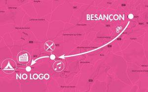 Pack vélo No Logo Festival départ Besançon