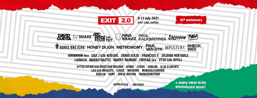 Line Up Exit Festival 2021 - Forteresse de Petrovaradin, Novi Sad (Serbie)